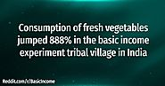 Consumption of Fresh Vegetables jumped 888%