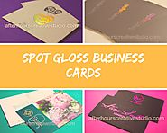 Spot Gloss Business Cards- Gloss Highlights