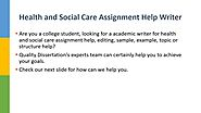 Health And Social Care Assignment and Essay Help