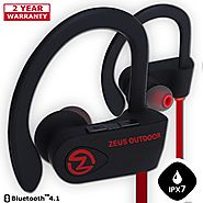 Wireless Bluetooth Headphones ZEUS OUTDOOR HD Stereo Noise Cancelling Wireless Earbuds Waterproof Earphones with Mic ...