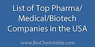 List of Top Pharma / Medical / Biotech Companies in the USA - BioChem Adda
