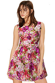 New Floral Pink Dress Online for 639 Rs.@ FleAffair