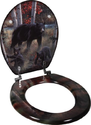 Black Bear Decorative Toilet Seat - Bear Decor