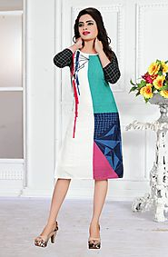 Multi Printed Soft Micro Stitched Kurti Online for 749 Rs.@ FleAffair