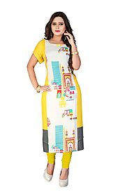 Multi Printed Rayon Stitched Kurti Online for 1449 Rs.@ FleAffair