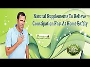 Natural Supplements To Relieve Constipation Fast At Home Safely