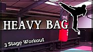Thai Boxing Heavy Bag Training for Power Kicking