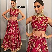 Buy Bollywood Lehengas - Red Coloured Bangalori Silk Flaring Look 3 Piece Lehenga Online for 2500.00 Rs.@ FleAffair