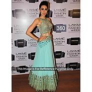 Karishma Kapoor sky blue dress