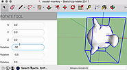 The move rotate tool for sketchup