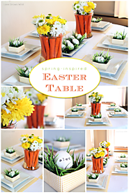 Spring-Inspired Easter Tablescape and Carrot Centerpiece - Love Grows Wild