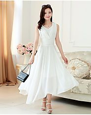 Faux Georegette White Colour Gown