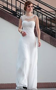 White Long Party Wear Gown