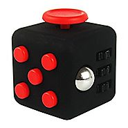 Fidget Cube Relieves Stress And Anxiety for Children and Adults Anxiety Attention Toy (((01 Cube USA )), Black)