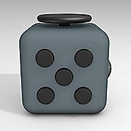 D-JOY Cube Fidget Toy Cube Relieves Stress and Anxiety Attention Toy for Work, Class, Home (Dark Gray)