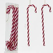 "7"" Candy Cane Hanging Ornaments 12Pc. Color: Red/White,. - Christmas Ornament"