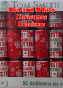 Red and White Christmas Crackers