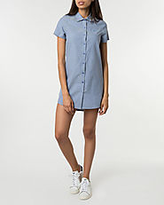 Court Chambray Shirt Dress
