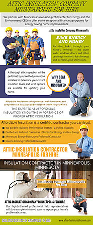 Insulation contractor Minneapolis For Hire