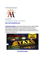 Taxi Provider in Udaipur