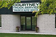 Close View of Front Shop Exterior at Courtney Truck Service