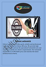 Professional Locksmith in Fulton MD Area