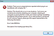 QuickBooks Enterprise Error 80029c4a