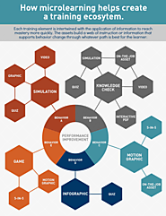 How Microlearning Helps Create a Training Ecosystem Infographic - e-Learning Infographics
