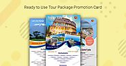The Key to Entice the Customers - The Tour Promotion Cards