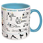 How To: Yoga Coffee Mug - Learn Yoga Poses While You Drink Your Coffee - Includes a Yoga Mat Coaster and Comes in a F...