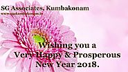 Welcome 2018 New Year Wishes | SG Associates Kumbakonam Builders in Kumbakonam