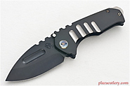 Medford Praetorian Genesis-T, Vulcan Drop Point Blade with Custom Handle and New Clip and Blue Pivot