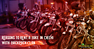 Reasons to Rent a Bike In Delhi with BackPackClan