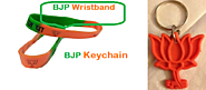 BJP Silicone Wristband And Keychain For Party Compain