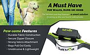 Tuff Mutt - Dog Poop Bag Holder Leash Attachment, Includes 1 Roll of Poop Bags, Waste Bag Dispenser, Lightweight Fabr...