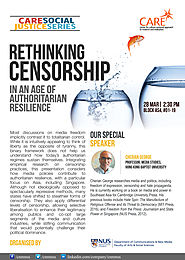 CNM-CARE Research Talk: Rethinking Censorship In An Age of Authoritarian Resilience- Presented By Professor Cherian G...