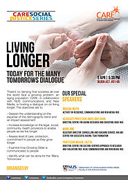 CNM-CARE Research Talk: Living Longer- Today for the Many Tomorrows – CARE: Culture Centred Approach To Research and ...