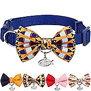Blueberry Pet Multiple Designs Spring Breakaway Cat Collar with Vary Package, Pack of 2 Collars with Flower or Pack o...