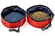 4 Pack Travel Pet Bowl for Food & Water - Folding Collapsible - for Dogs & Cats