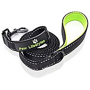 "Extra Heavy Duty Dog Leash by Paw Lifestyles – 3mm Thick, Soft Padded Handle For Comfort, 6ft long - 1"" Wide, Perfect..."
