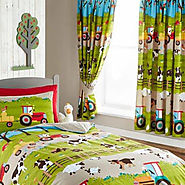 Farmyard Curtains for Children's Farm Themed Bedroom | The Bedlinen Company Cork