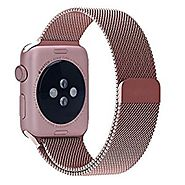 Apple Watch Band, YSH Milanese Fully Magnetic Closure Clasp Mesh Loop Stainless Steel iWatch Band Replacement Wrist B...