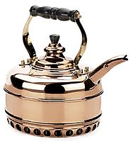 Simplex Heritage 2 Quart Copper Tea Kettle for Gas Stovetops