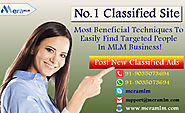 MLM Classified- Ideal Business Strategy To Expanding Your MLM Business Via Online