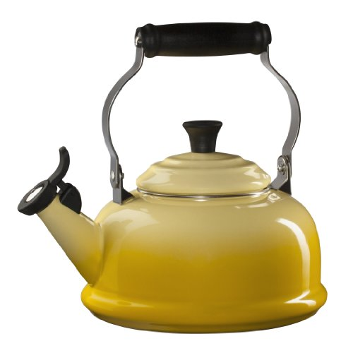 Le Creuset Enameled Steel Classic Tea Kettle, 1-4/5-Quart