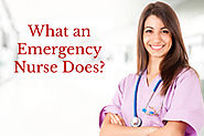 What an Emergency Nurse Does?