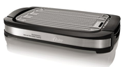 Oster CKSTGR3007-ECO DuraCeramic Reversible Grill and Griddle, Black/Stainless Steel