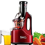 SKG Slow Juicer | Wide Chute Anti-Oxidation Slow Masticating Juicer - Smart Masticating Juicer