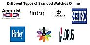 Can we buy branded watches online?