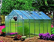 Monticello Greenhouse Premium Package, 8' x 12', Aluminum Finish
